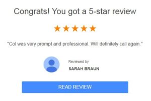 Sarah's Google Review of One Point